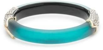 Alexis Bittar Crystal Encrusted Feather Hinge Bracelet