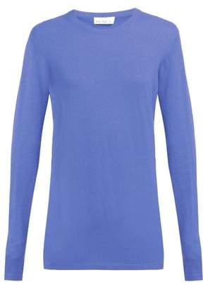 Raey Long Line Fine Knit Cashmere Sweater - Womens - Purple