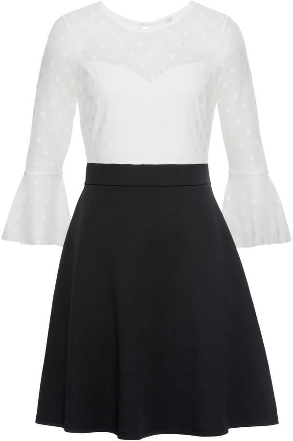 BODYFLIRT boutique Kleid mit Netz-Einsatz