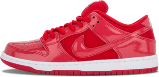 Nike Dunk Low Pro SB 'Red Patent Leather' Shoes - Size 7.5