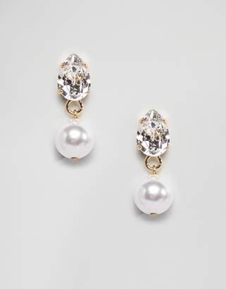 Swarovski Krystal London crystal earrings with faux pearl drop