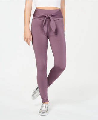 Material Girl Active Juniors' Tie-Front Leggings