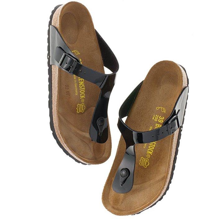 Birkenstock® patent gizeh sandals