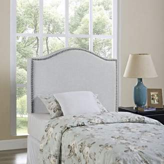 Modway Curl Twin Nailhead Upholstered Headboard, Multiple Colors