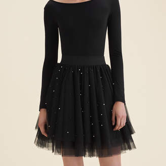 Maje Short tulle skirt with beads