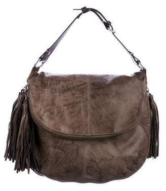 AllSaints Leather Tassel-Trimmed Hobo