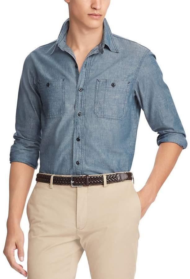 Polo Ralph Lauren Big & Tall Chambray Long-Sleeve Work-Shirt
