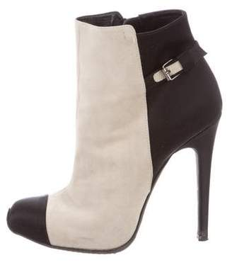 Giambattista Valli Suede Two-Tone Booties