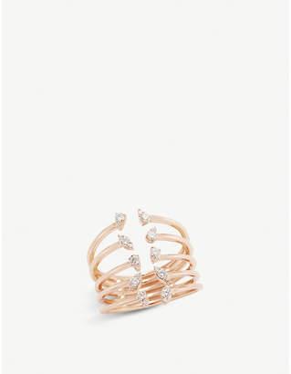 Rosegold The Alkemistry Dana Rebecca 14ct rose-gold and diamond multi-prong ring