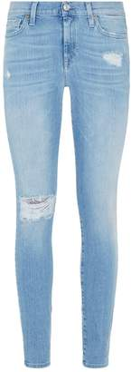 7 For All Mankind Embellished Slim Illusion Skinny Jeans
