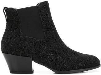 Hogan H401 glitter ankle boots