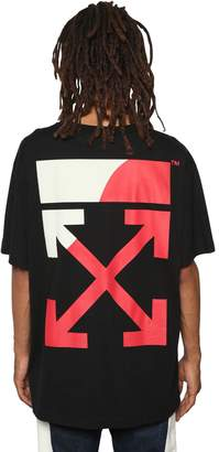 Off-White Off White Oversized Fit Printed Jersey T-Shirt