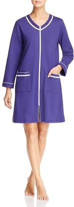 Eileen West Terry Long Sleeve Short Zip Robe $66 thestylecure.com
