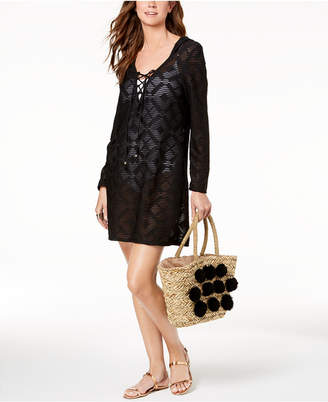 Dotti Lace-Up Hoodie Dress Cover-Up Women's Swimsuit