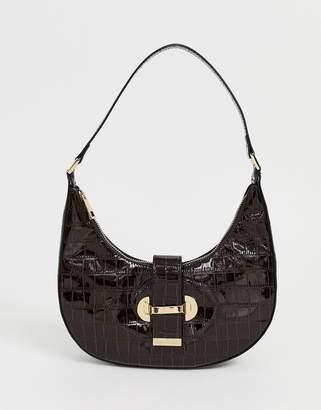 Asos Design DESIGN 90s hobo shoulder bag in croc
