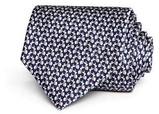 Salvatore Ferragamo Rabbits with Neckties Silk Classic Tie