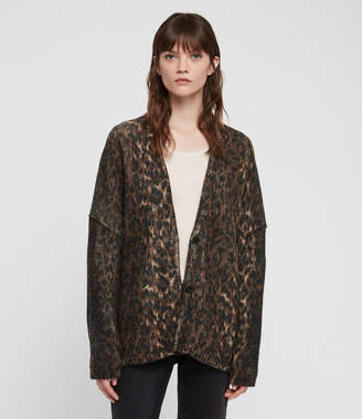 AllSaints Leopard Cardigan