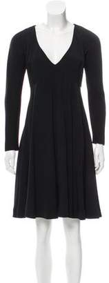 Michael Kors Long Sleeve A-Line Dress