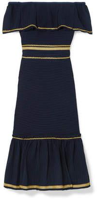 Zeus+Dione Leukes Off-the-shoulder Jacquard Midi Dress