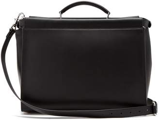 Fendi Peekaboo logo-jacquard leather briefcase