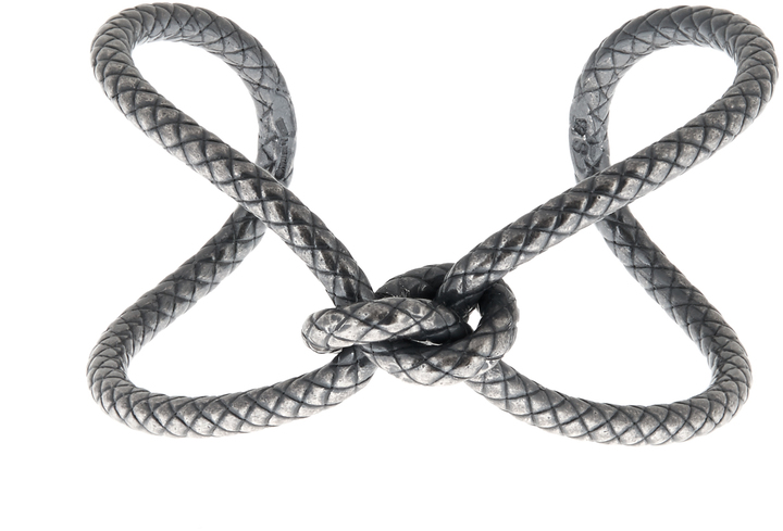 Bottega VenetaBOTTEGA VENETA Oxidised-silver bracelet