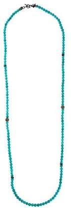 Armenta Dyed Magnesite & Diamond Bead Strand Necklace