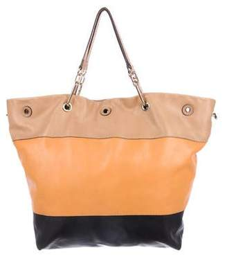 Sonia Rykiel Tricolor Leather Satchel