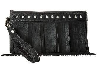 M&F Western Fringe Wristlet Wallet