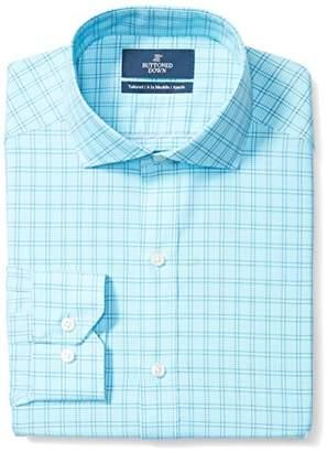 Buttoned Down Men's Tailored Fit Cutaway-Collar Pattern Non-Iron Dress Shirt
