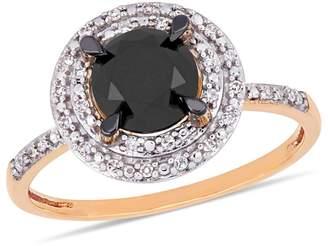Concerto 14K Rose Gold, 1.59 CT. T.W. Black White Diamond Ring