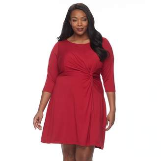 Dana Buchman Plus Size Waist Twist Dress