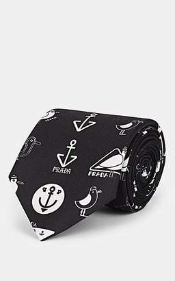 Prada Men's Silk Twill Necktie - Black