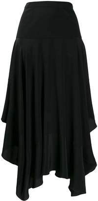 Stella McCartney asymmetric flared midi skirt