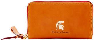 Dooney & Bourke NCAA Michigan State Zip Around Phone Wristlet