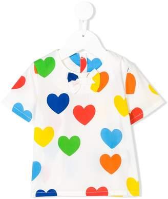 Mini Rodini Rainbow Love top
