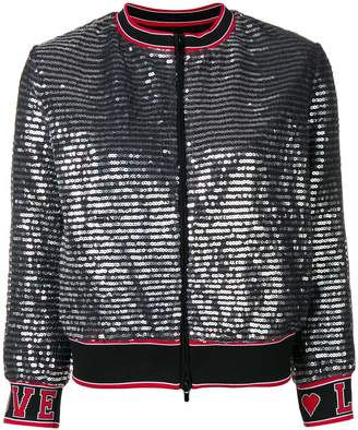 Love Moschino zipped-up bomber jacket