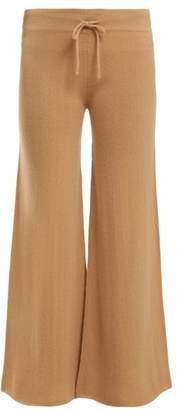 Roche Ryan Wide Leg Cashmere Track Pants - Womens - Beige