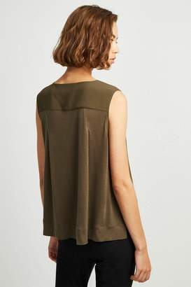 French Connenction Crepe Light V Neck Top