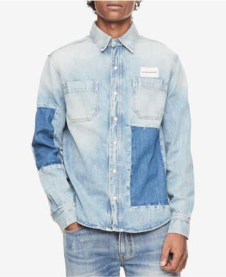 Calvin Klein Jeans Men's Classic Fit Patched Utility Shirt