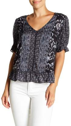 Lucky Brand Printed Puff Sleeve Blouse