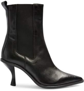 Topshop Madrid Kitten Heel Chelsea Leather Boots