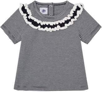 Petit Bateau Cotton Ruffle Shirt