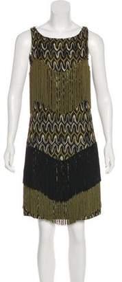 Missoni Fringe Trim Midi Dress