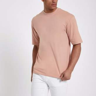 River Island Only and Sons pink oversized T-shirt