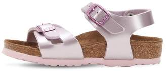 Birkenstock Metallic Lilac Faux Leather Sandals