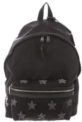736f84b775 Saint Laurent Leather-Trimmed Star Backpack