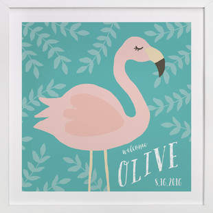 Flamingo Children's Custom Art Print