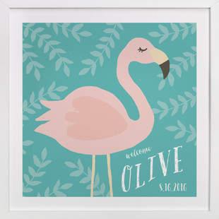 Flamingo Children's Custom Art Print