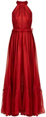 Maria Lucia Hohan Zyna matte-silk halterneck gown