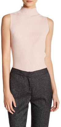 Vince Camuto Mock Neck Ribbed Tank Sweater $79 thestylecure.com